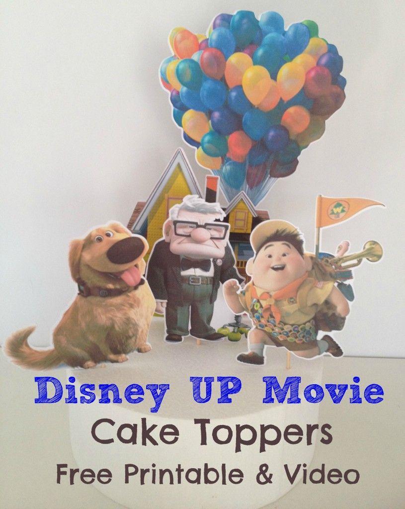 How to make: Cake Topper for Disney UP Movie   DIY   Movie