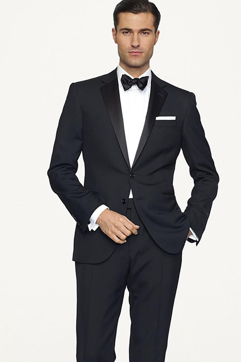 how to wear a black suit