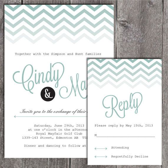 Diy printable wedding invitation and rsvp by notesandknots 2500 diy printable wedding invitation and rsvp by notesandknots 2500 solutioingenieria Gallery