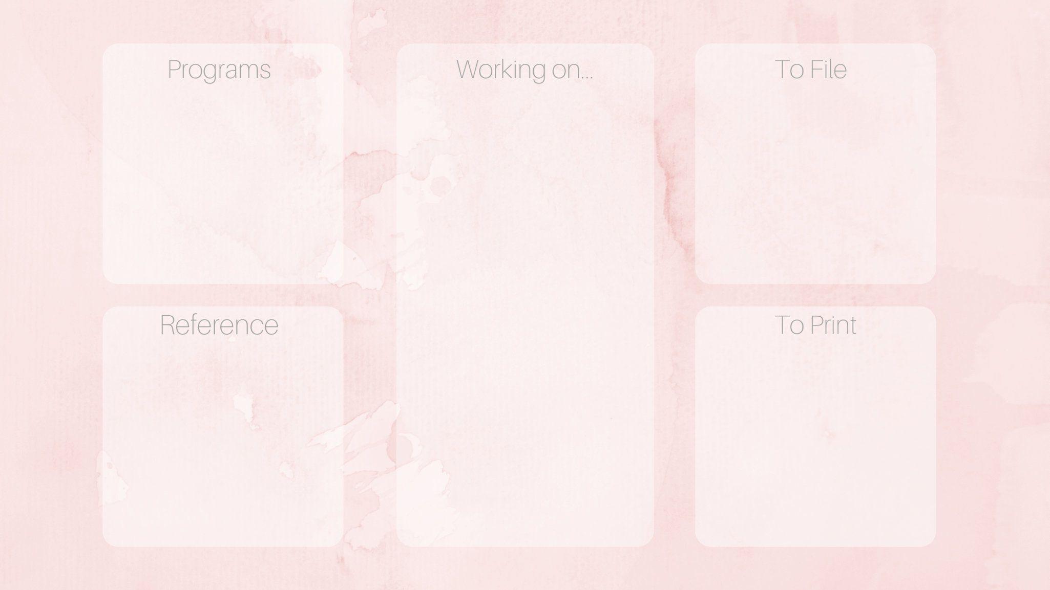 Pink Watercolor Desktop Organizer Wallpaper Organization Organiza Computer Wallpaper Desktop Wallpapers Desktop Wallpaper Organizer Desktop Wallpaper Macbook