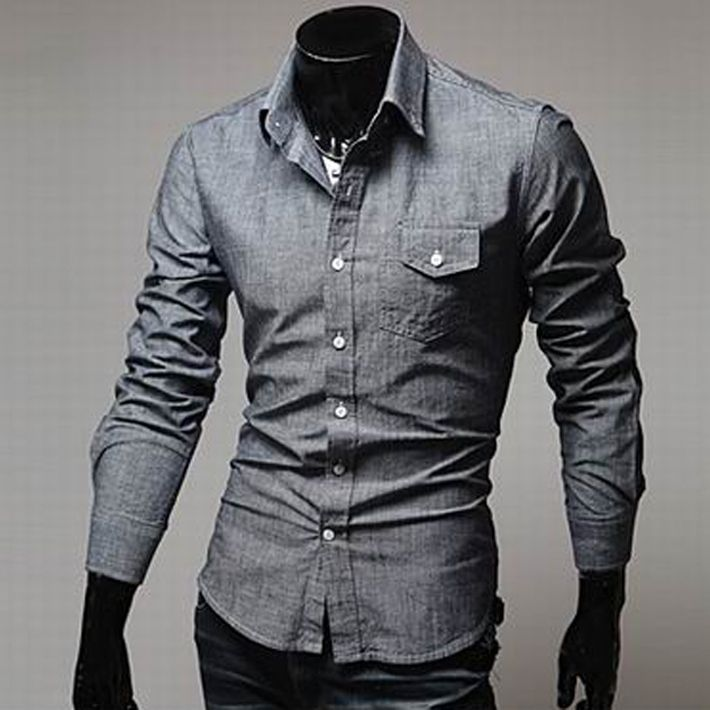 f54239f509 Aliexpress.com   Buy new fasgion Concise style washed men s shirt jeans  shirt leisure long sleeved shirt free shipping MCL115 from Reliable man s  shirt ...