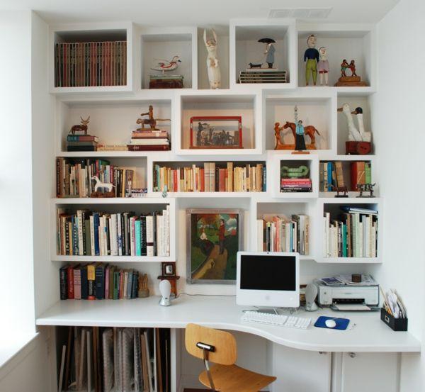 sparen sie platz wie sie regale und schreibtisch richtig kombinieren m bel furniture co. Black Bedroom Furniture Sets. Home Design Ideas