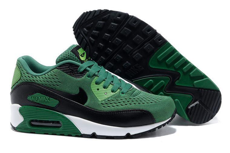 Nike Air Max 90 Premium Em Men Green Black Running Shoes
