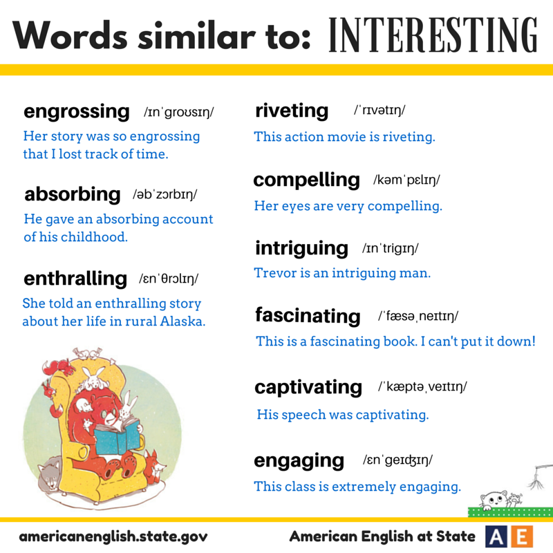We Hope This Post Is Interesting! These Synonym Sunday Words Aren't Exact Synonyms, But All Of