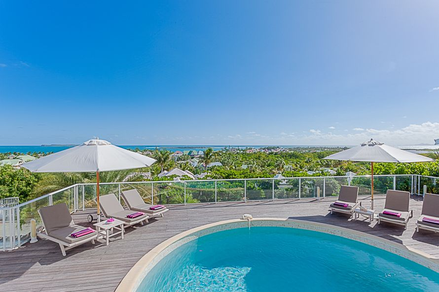 Villa Ocean View St Martin - 3 bedroom villa to rent in Orient Bay