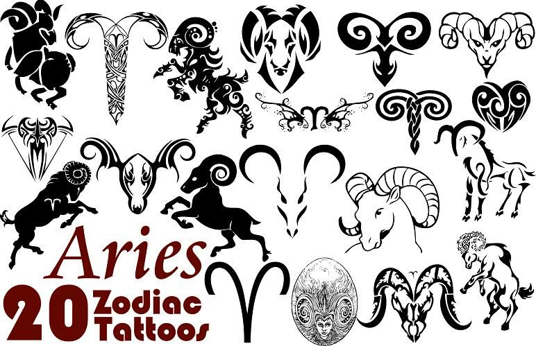 Aries Zodiac Sign Tattoo For Girls