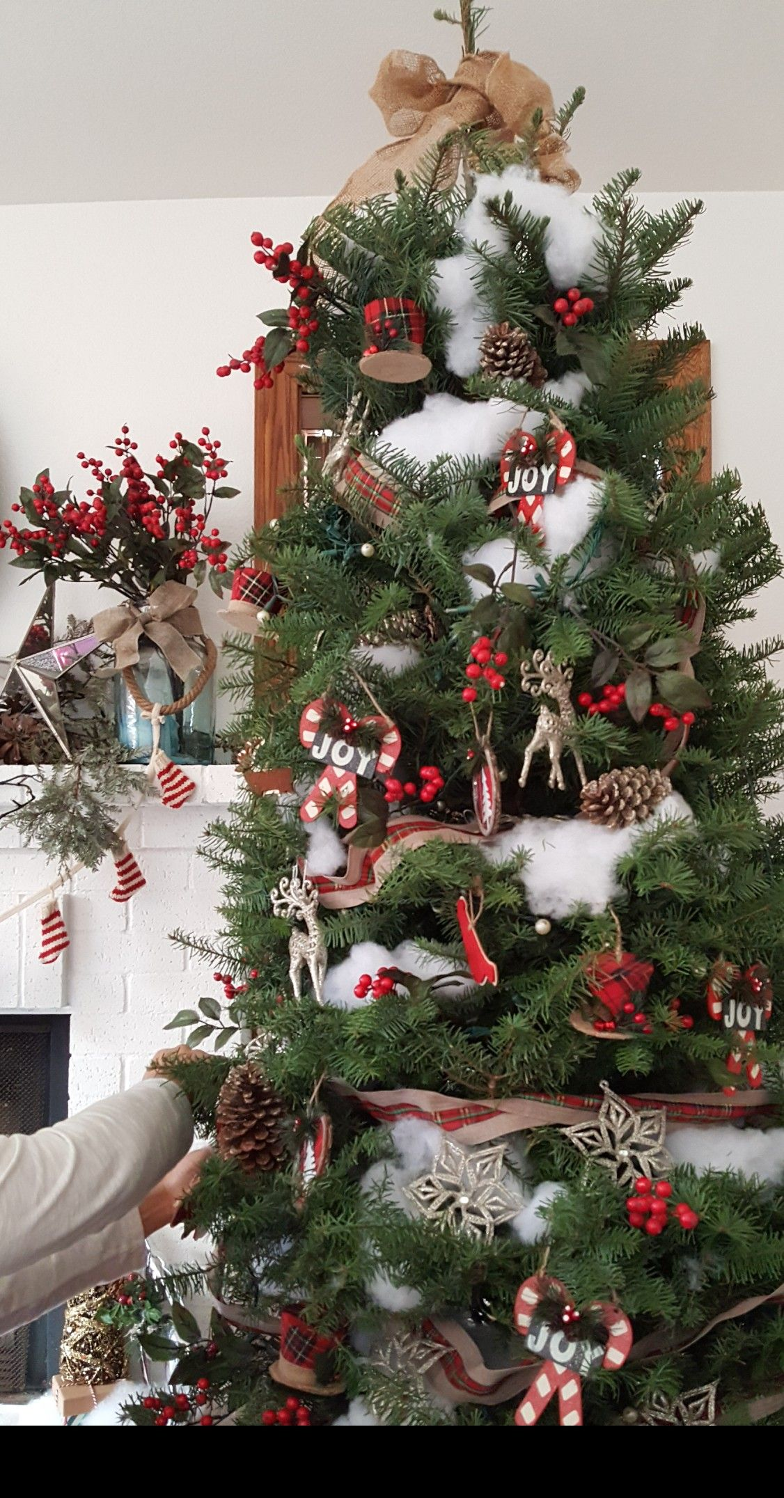 Rustic Christmas Tree Farm House Tree