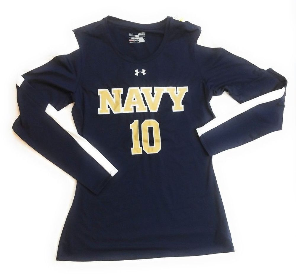 Under Armour Navy Blue Midshipmen Women s M Long Sleeve Top Jersey 1259048   50  Underarmour  NavyMidshipmen 9ea98862d