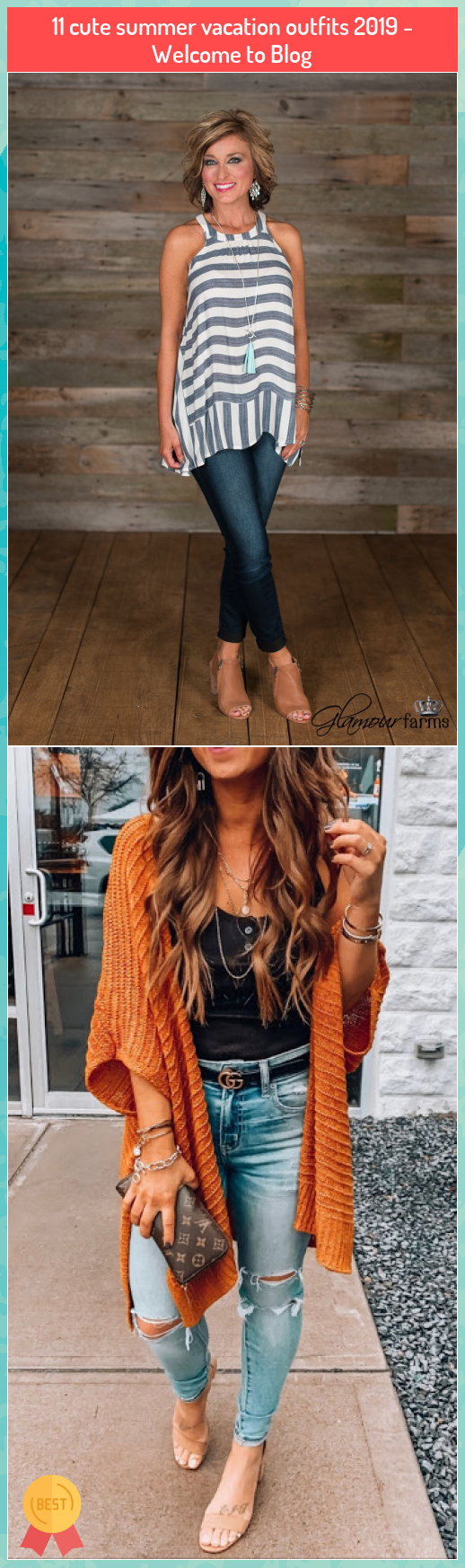 11 cute summer vacation outfits 2019 - Welcome to Blog #cute #summer #vacation #outfits #2019 #Welcome #Blog