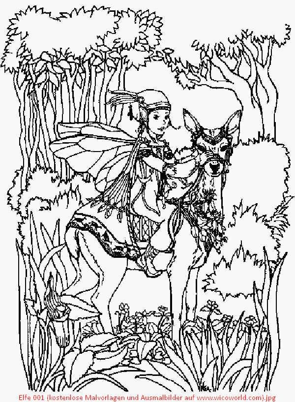 Elfe 001 Kostenlose Malvorlagen Und Ausmalbilder Auf Www Wicoworld Com Jpg 600 817 Fairy Coloring Pages Coloring Pages Coloring Book Art