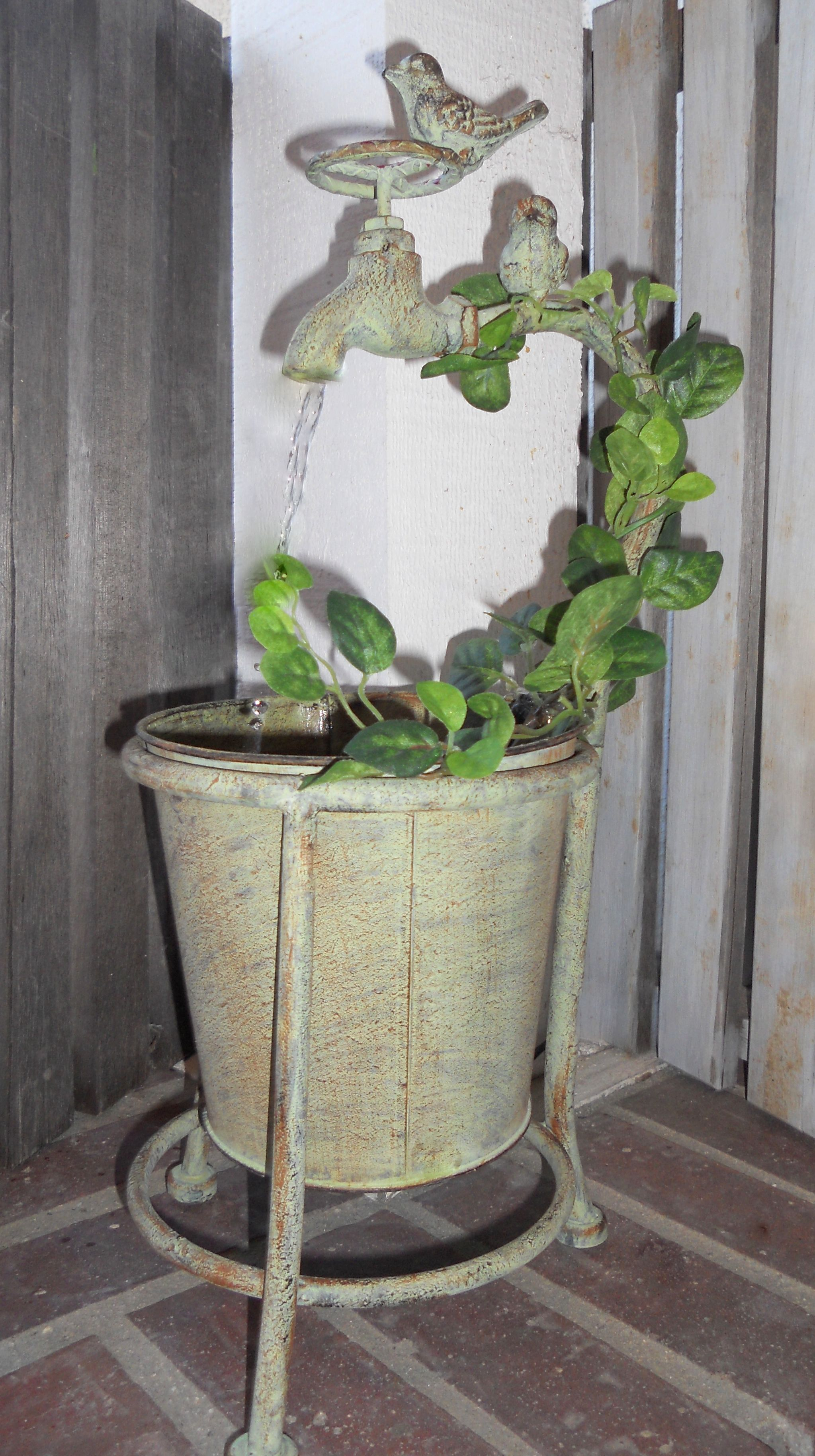 Bird\'s Garden Faucet Fountain - Decorative Tabletop Water Feature ...