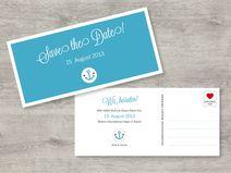 "Save the Date Postkarte ""Anker"""