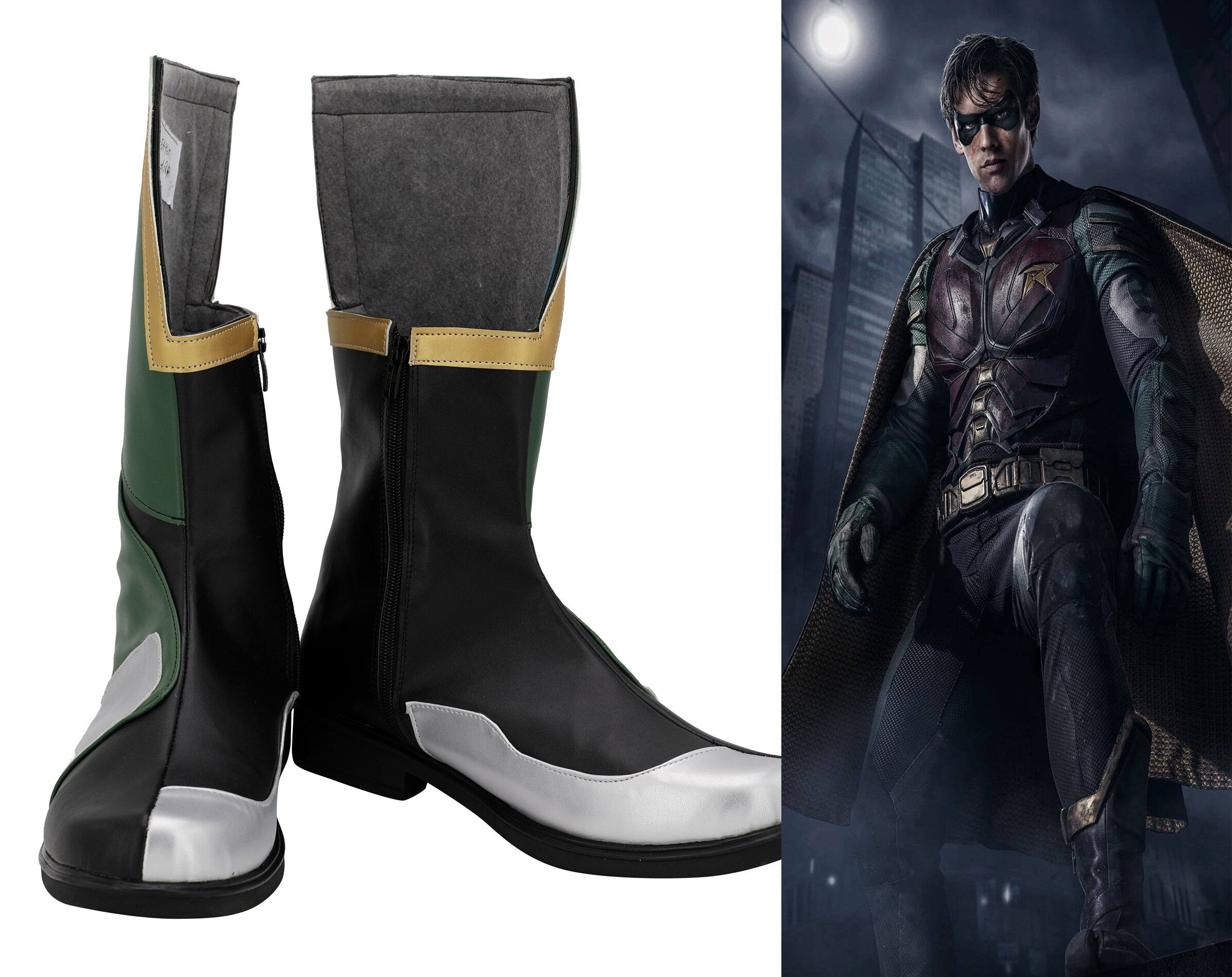 New Batman Justice Robin Halloween  Cosplay Shoes Boots