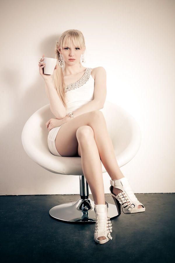 Hot blonde legs