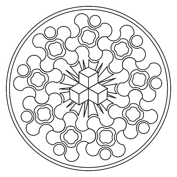 Mandala para colorear   Mandalas   Pinterest   Mandala para colorear ...