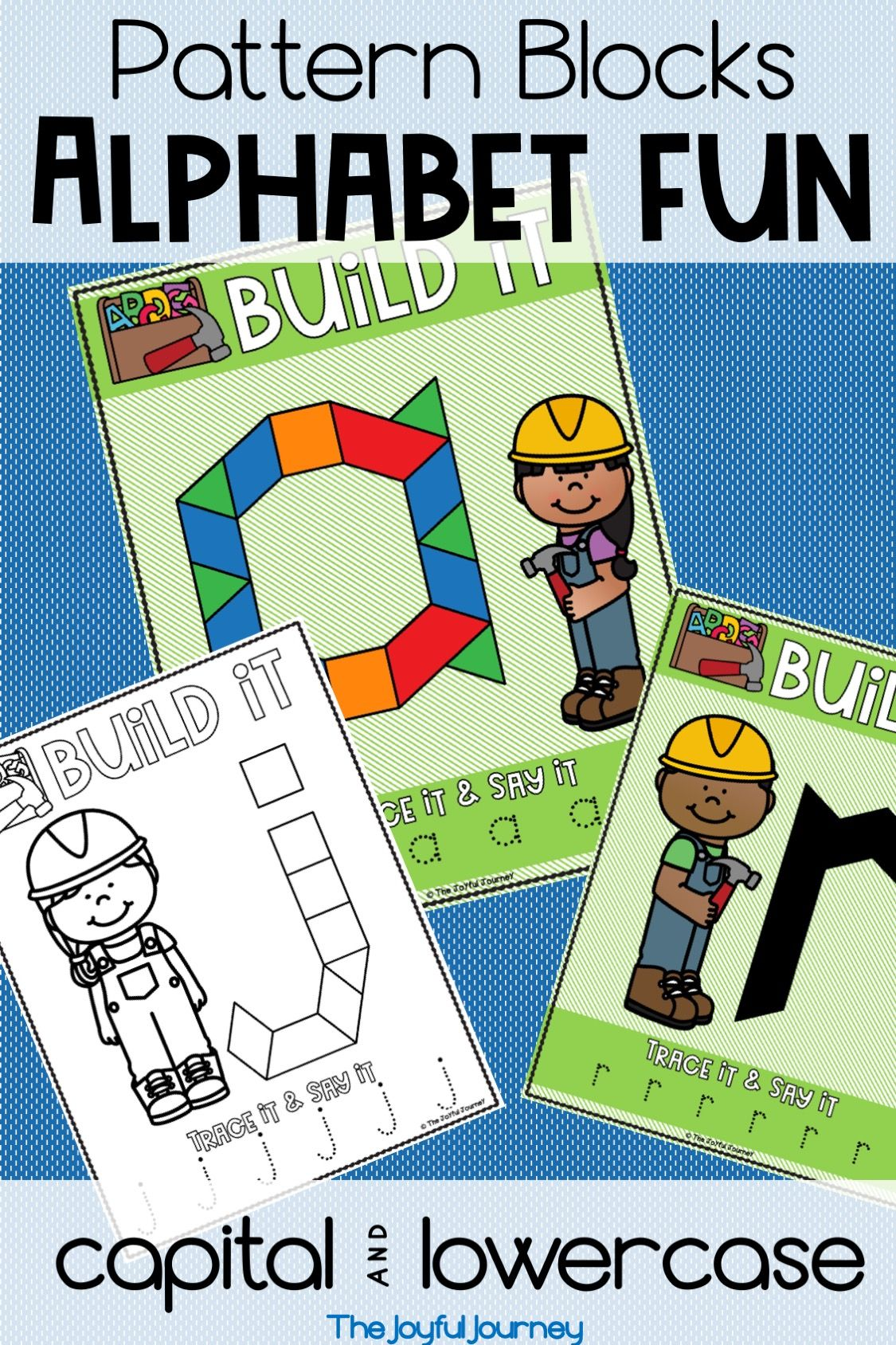 Alphabet Puzzles Pattern Blocks