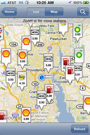 GasBuddy (iOS, Android, FREE) find the cheapest gas on the