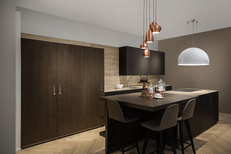 Wave Design keuken Afzuiginstallatie downdraft Keukens - u form küche