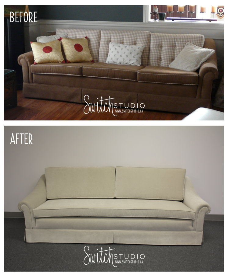 Sofa Cover Switch Studio Before u Afters reupholstered sofa reupholstery beforeandafter switchstudio http