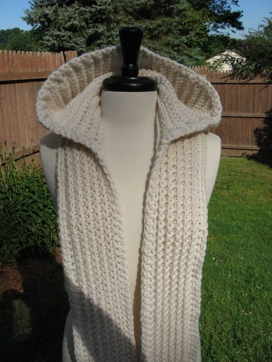 Crocheted Hooded Scarf Ooooohhhhh Craft Pinterest Crochet