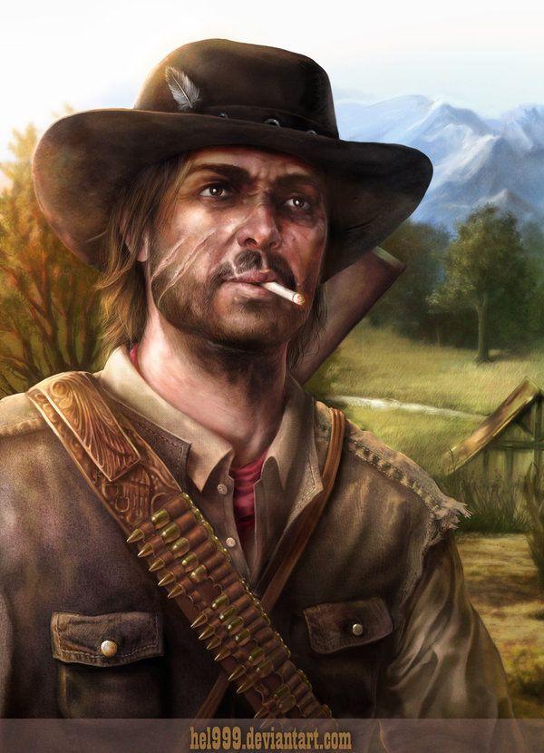 Fan Art Of John Marston From Red Dead Redemption Was Just