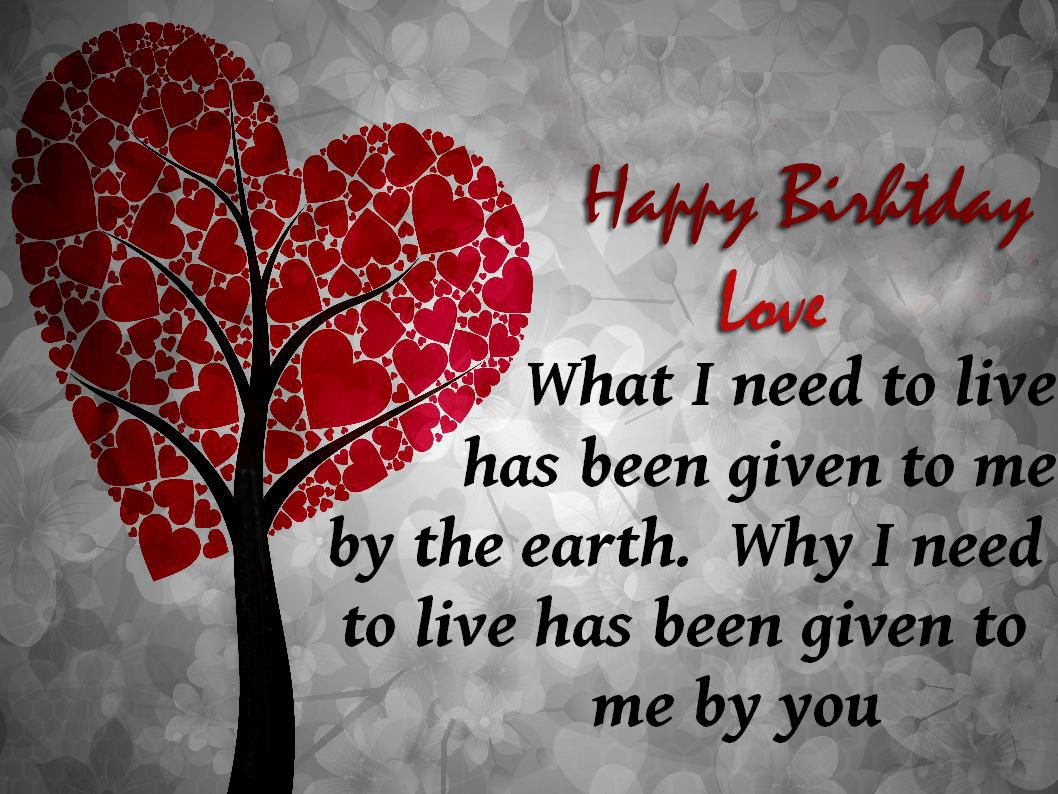 Birthday wishes for lover Happy Birthday Love – Birthday Greetings Love