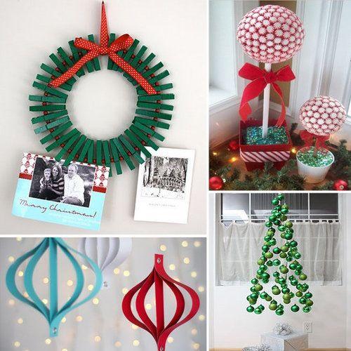 DIY Christmas decoration I love the card holder reaf Crafty