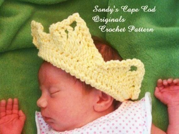 Princess Headband Crowns Crochet Pattern 136pdf #crownscrocheted