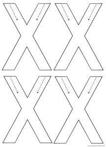 Letter X Worksheets For Kindergarten Design Templates