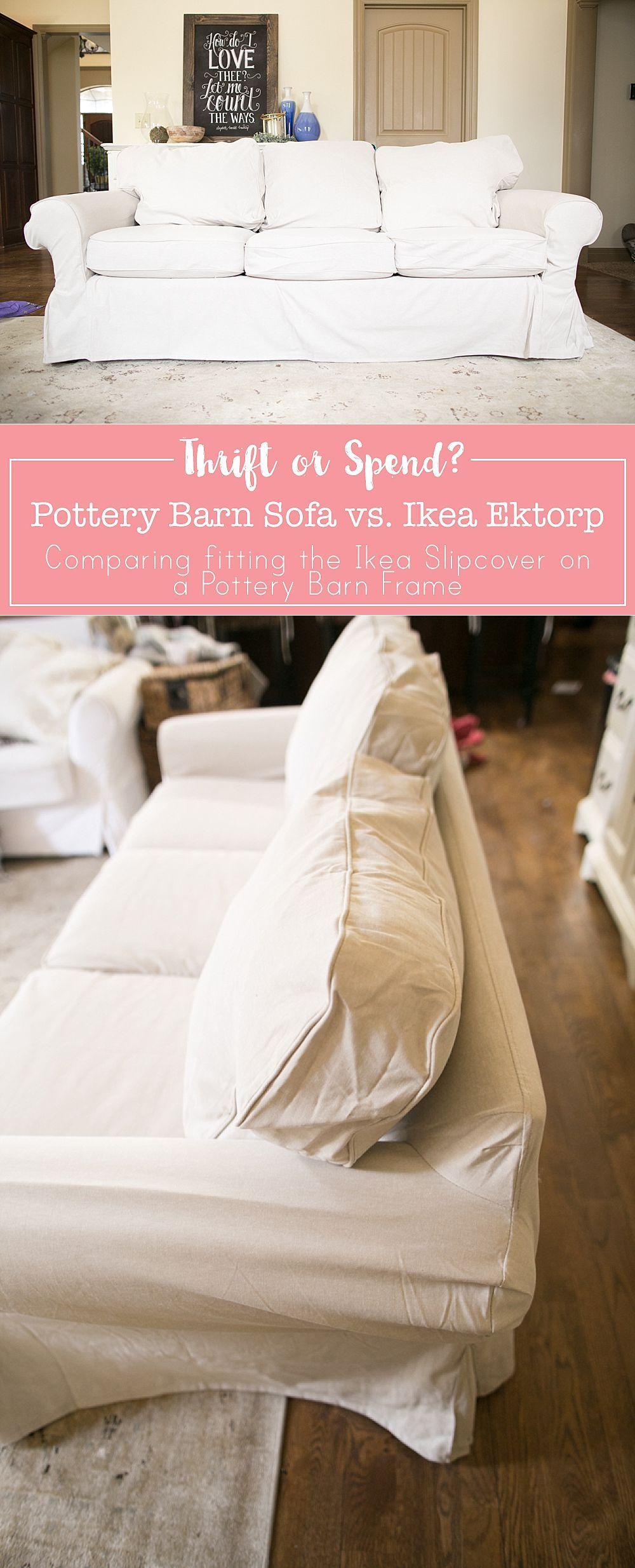 Ikea Ektorp Sofa Cover On A Pottery Barn Frame Ektorp Sofa Cover
