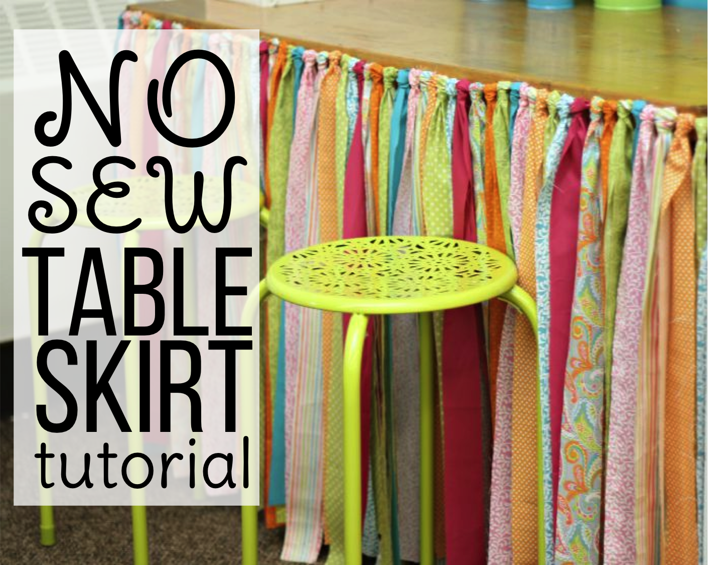 Learn How To Make A No Sew Table Skirt For You Classroom Or Home With This