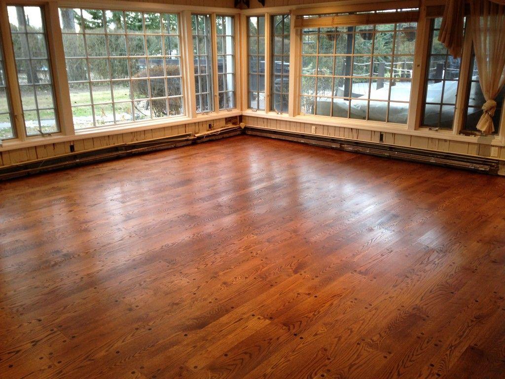 Red Oak Floors with One Coat of Oil Base Polyurethane