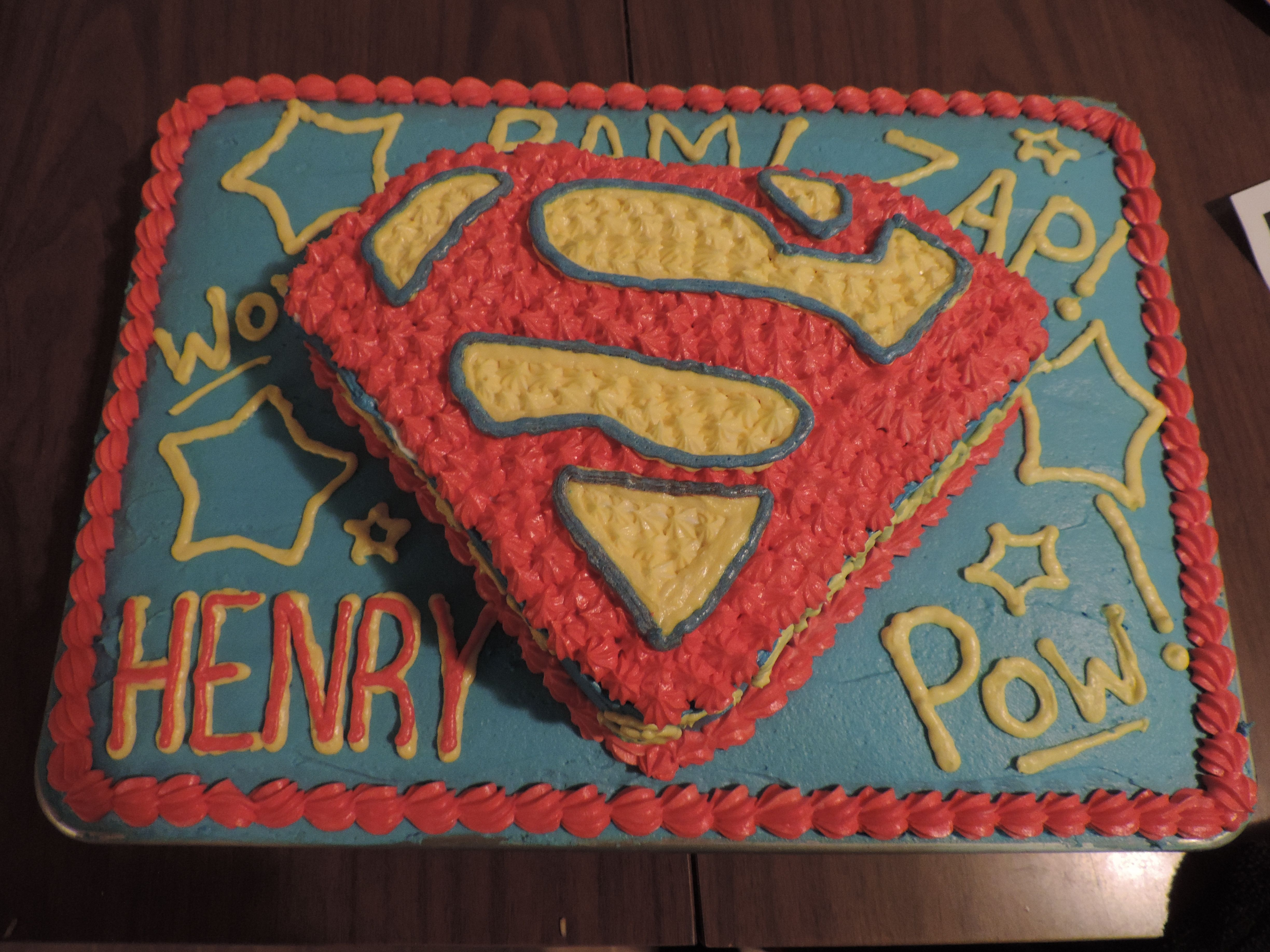 The Superman Cake Not Able To Leap Tall Buildings In A Single