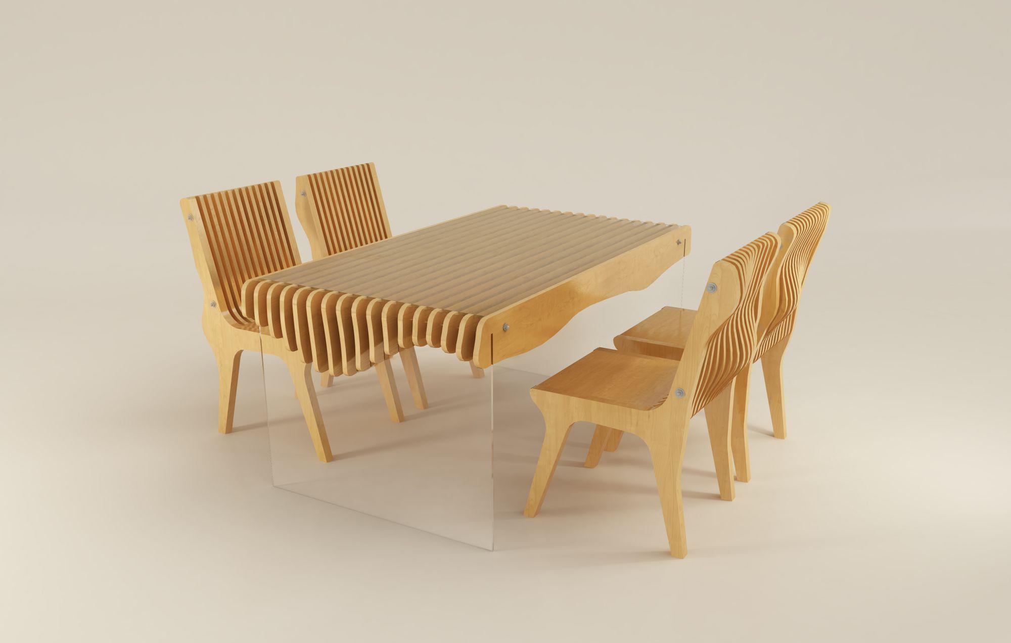 Wooden bedroom chairs designs - Parametric Furniture By Laboratorul De Arhitectura