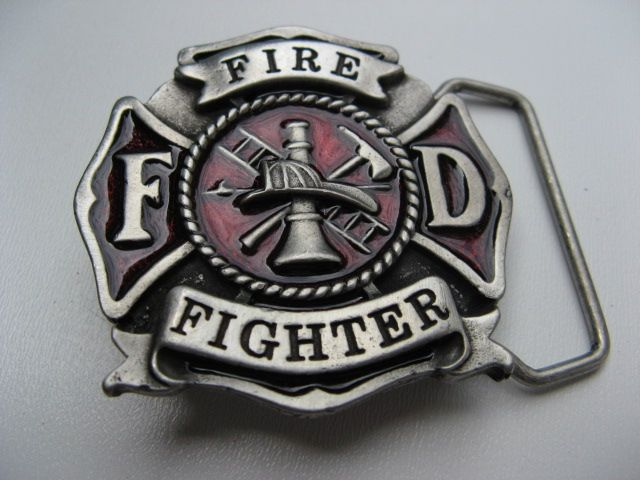 fd fire fighter fireman firemen hat ax kid boy belt buckle buckles