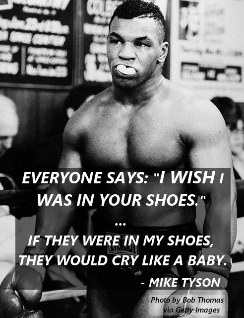 Mma Quotes Custom The 15 Best Mike Tyson Quotes Mma Gear Hub  Misc Pinterest . Review
