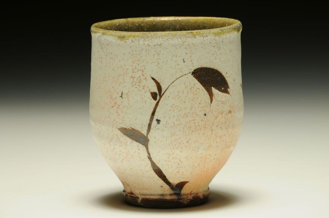 Michael Kline. Stoneware, slip, wax resist, wood fired, salt glazed, 3.75 x 3 x 3 inches.