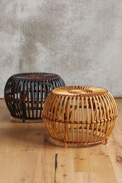 Rattan ottoman/side table. | Get in my House | Pinterest | Bambú ...