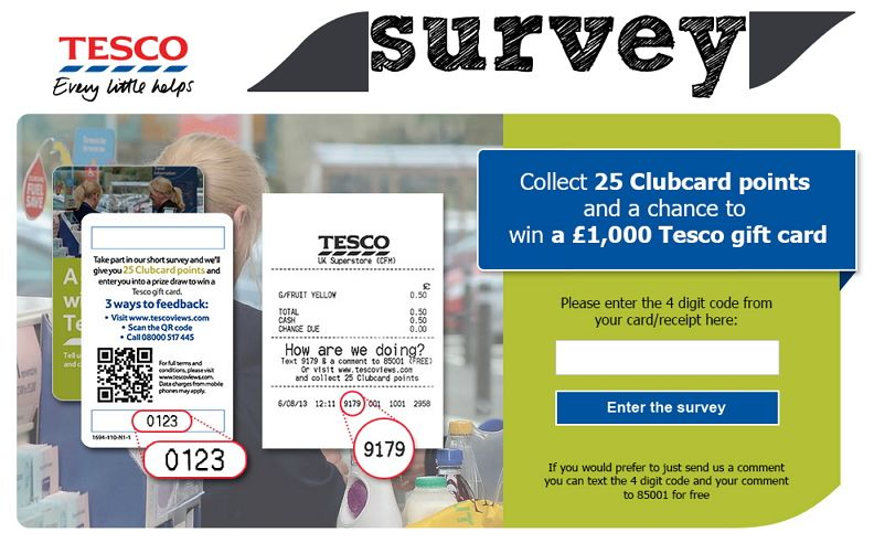 Www Tescoviews Com Tesco Customer Feedback Survey Tesco Gifts