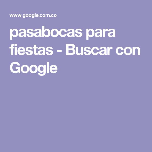 pasabocas para fiestas - Buscar con Google