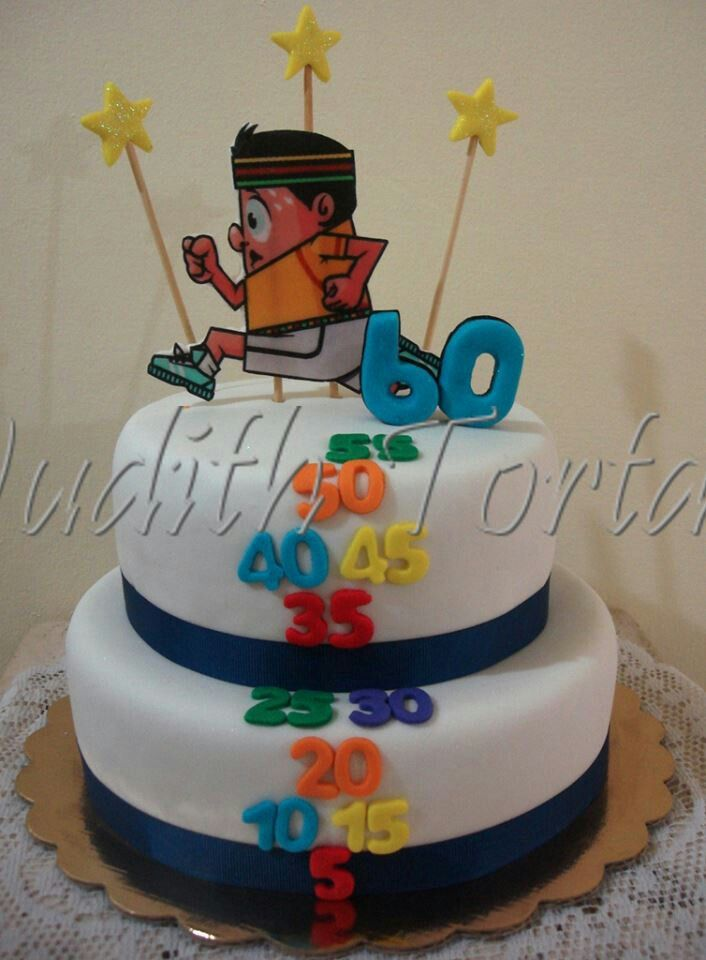 Torta Decorada Con Fondant Quot Happy B Day 60 Quot Torta Para