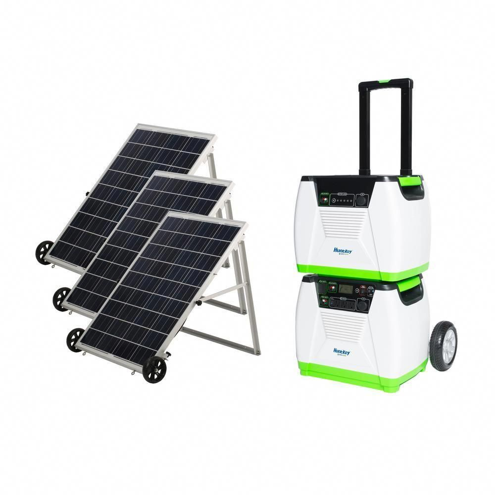 Nature S Generator 1800 Watt Solar Powered Portable Generator With Electric Start And Supplemental Nature S Power Pod Gxngpt The Home Depot Solar Panels Solar Solar Powered Generator