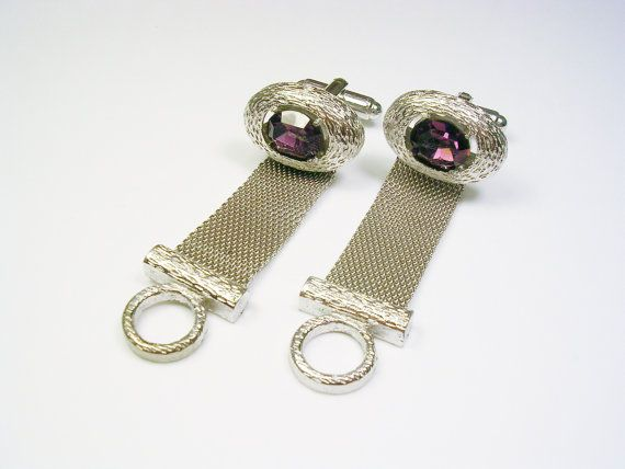 Vintage DANTE Cuff Links Mesh Wrap over the cuff Style Cufflinks Men Wedding Jewelry Formal Wear