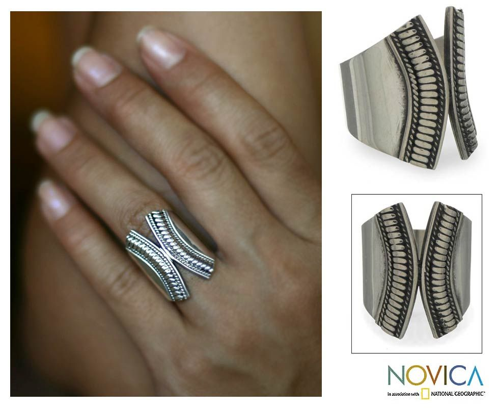 Hand Crafted Sterling Silver Wrap Ring -