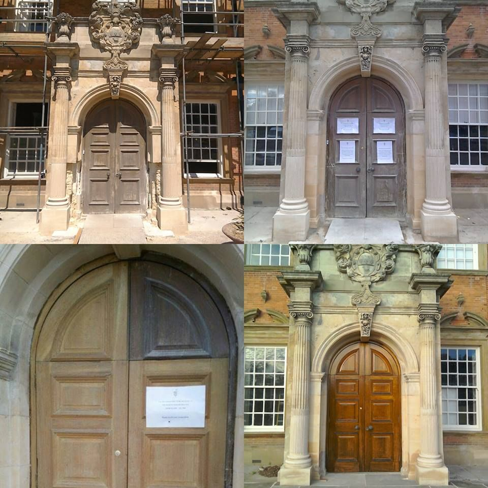 The Stages Of Restoration Of The Acklam Hall Front Door U0026 Stonework  #grandentrance #newbeginnings