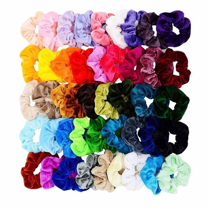 A 45-pack(!!!) of velvet scrunchies to keep your h