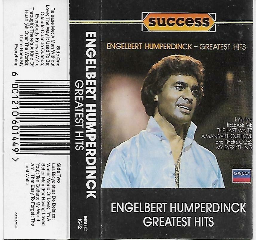 Engelbert Humperdinck Greatest Hits Cassette Tape South Africa