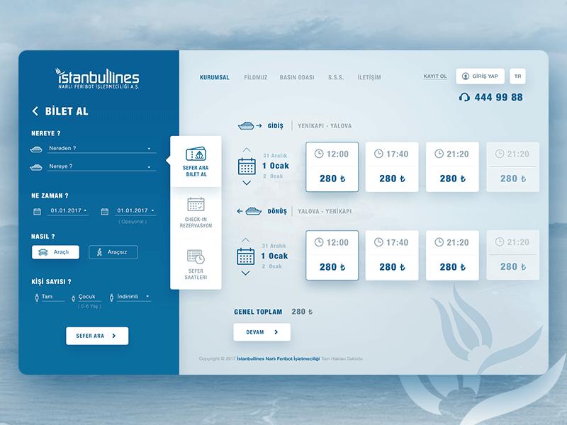 Ferry Ticket Booking Page Dashboard Design Web Design Web App Design