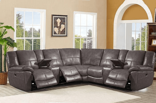 Winkfield Leather Reclining Sectional Sectionals By Latitude Run