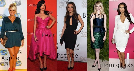 How To Dress For Your Body Shape - Celebrity Body Shapes